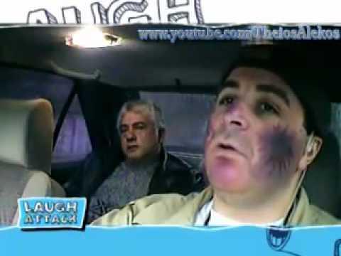 ΤΑΧΙ Μάρκος Σεφερλής [ Ο ορειβάτης ] Laugh Attack Αnt1 17_02_2012.flv