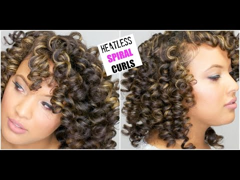 The PERFECT SPIRAL Curls On DRY Natural Hair || Heatless Permrod Curls