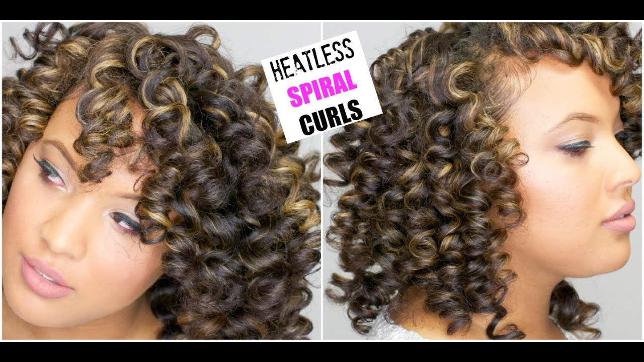 How To Get Spiral Curls For Natural Hair