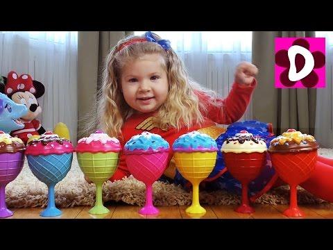 Угадай ЦВЕТ ВОЛОС Челлендж КУКЛЫ МОРОЖЕНОЕ Сюрприз Видео для Детей Игрушки Куклы и Игры для Девочек