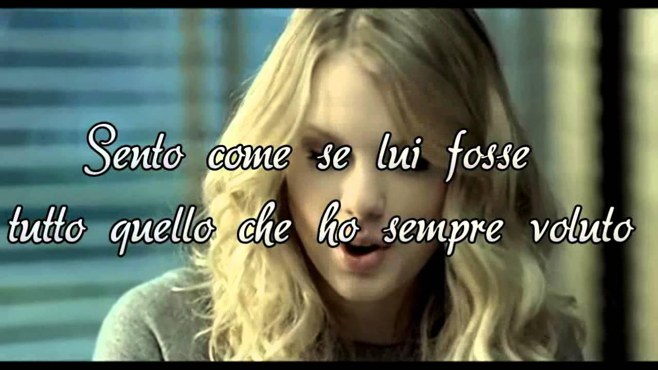 Taylor Swift White Horse Traduzione Italiana Youtube