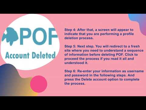 How to delete POF account? / plenty of fish / InfiniTube