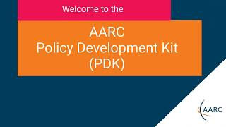 Welcome to the AARC Policy Development Kit! thumbnail