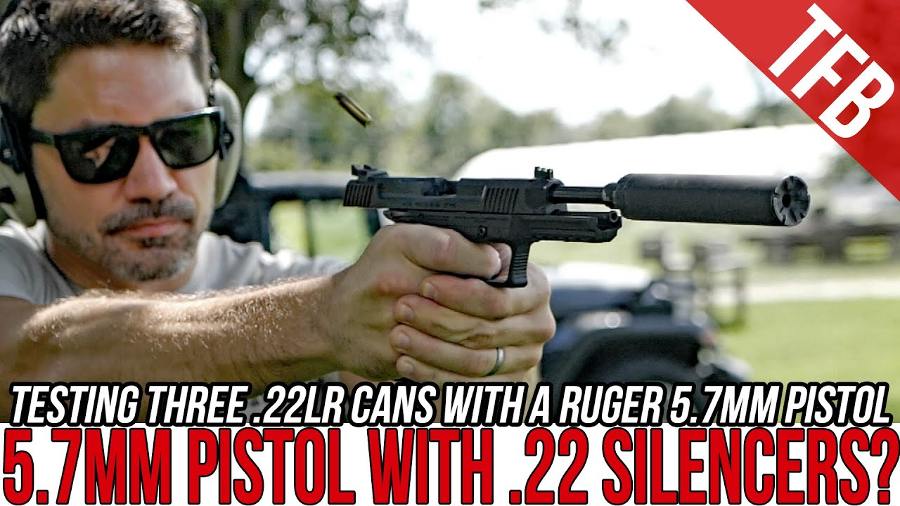 Trying .22 Silencers on a 5.7mm Pistol