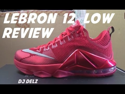 088cddd25a71 Nike Lebron 12 Low ALL RED QS Sneaker Review + On Foot Look With  DjDelz