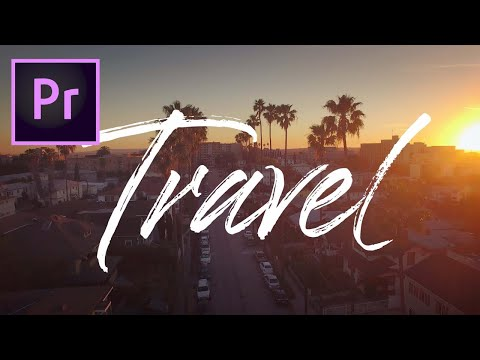 How to WRITE ON TEXT in ADOBE PREMIERE PRO (Great for travel videos & vlogs!)