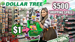 DOLLAR TREE GIRLY $500 SHOPPING SPREE! *I BOUGHT 500 THINGS*