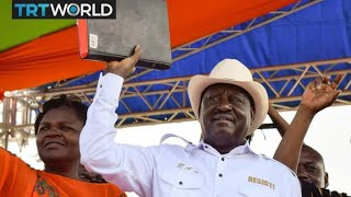 Kenya Politics: Thousands watch Odinga take mock oath of office