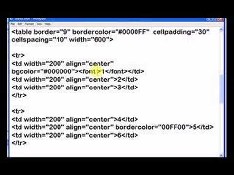 Html table formatting options part 2 youtube for Html table formatting