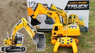 Rc Excavator Bulldozer Full Review Unboxing | EXCAVATOR Toys for Kids,