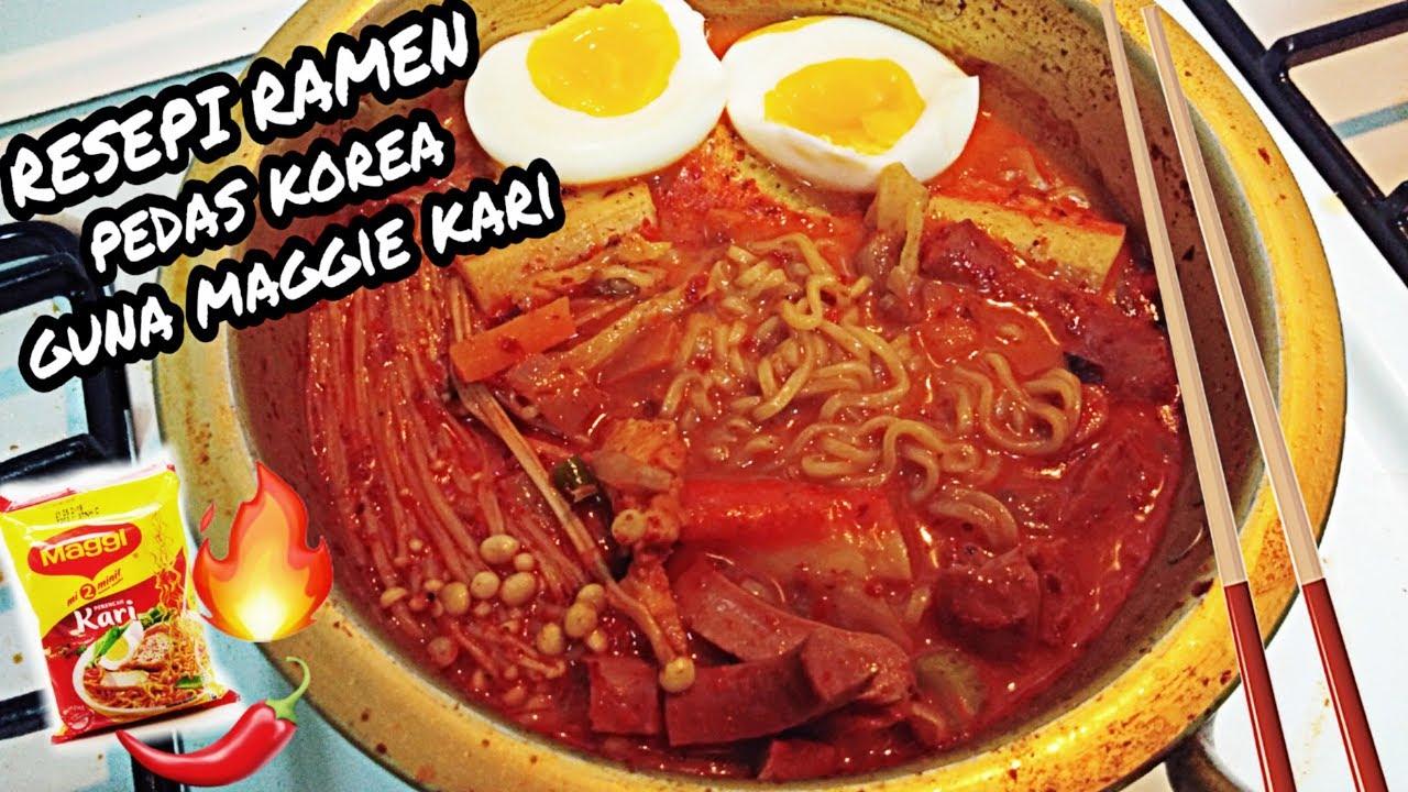 Resepi Ramen Ala Korea Pedas 10000x Guna Maggie Kari Je Vlog 004 Youtube