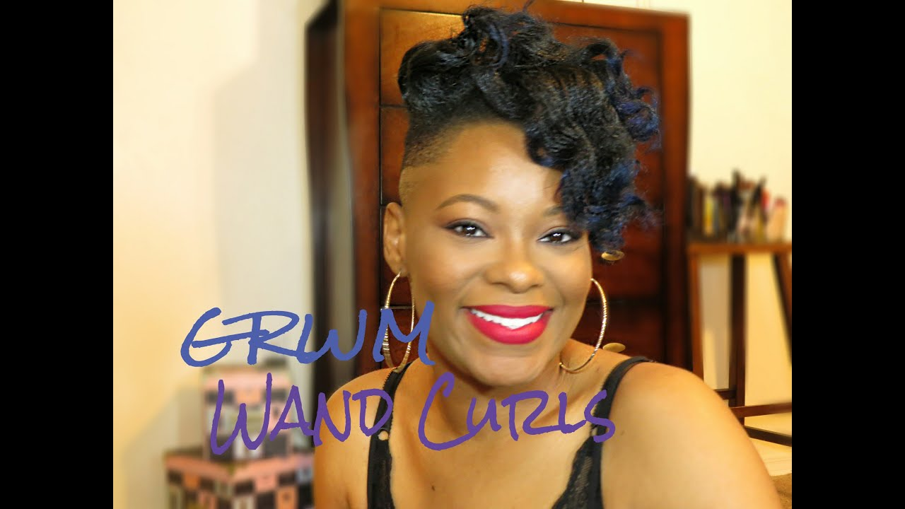 GRWM Hair Edition Wand Curls a Bun on Shaved sidesUndercut