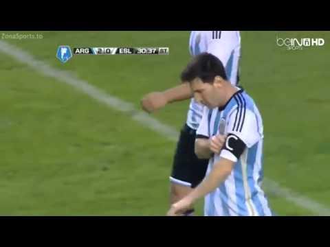 Lionel Messi  Argentina vs Slovenia 2 0   Partido Amistoso  2014