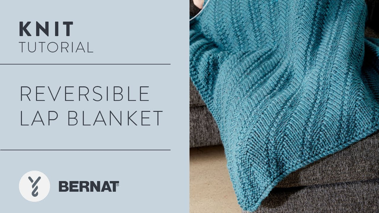 How to Knit: Reversible Lap Blanket - YouTube