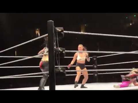 Ronda Rousey At A WWE House Show In Anaheim, California, Looking Great.