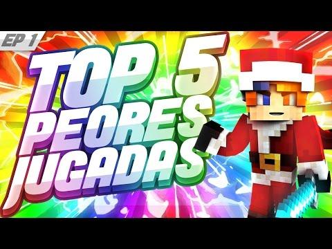TOP 5 FAILS MAS GRACIOSOS DE MINECRAFT - EP.1