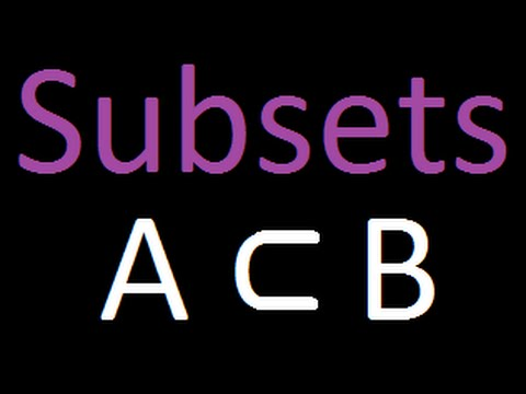 What is a subset ?