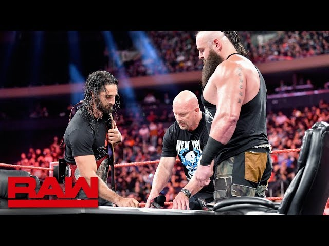Stone Cold Steve Austin moderates Universal Title Match contract signing: Raw, Sept. 9, 2019