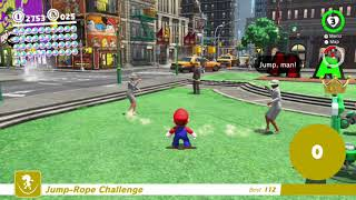 (Glitch) How to get 99999 jumps in the Jump-Rope Challenge (Super Mario Odyssey)