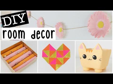 Diy room decor 2016 four easy inexpensive ideas youtube for Room decor nim c