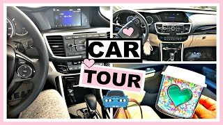 What's In My Car 2016?! | Car Tour & Review + Girly Auto Accessories
