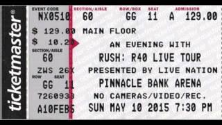 Rush - 2015-05-10 - Lincoln, Nebraska - R40 Tour, Second Night!