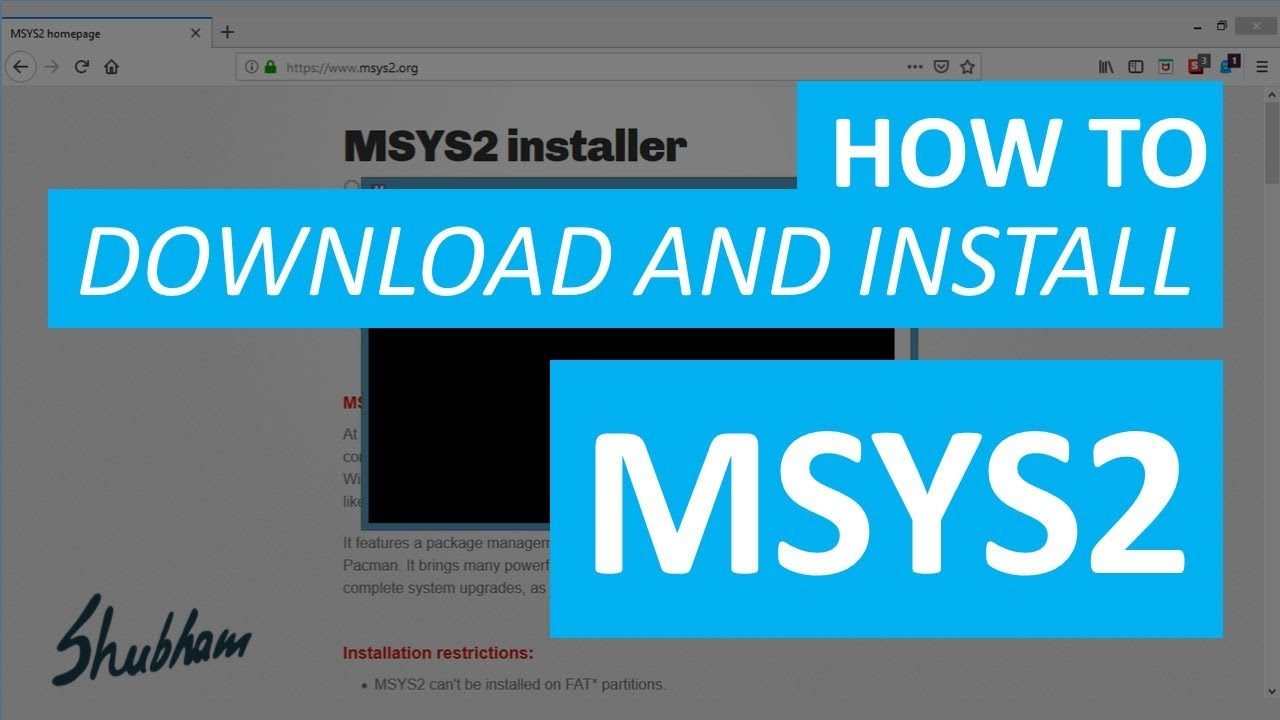How to download and install MSYS2?