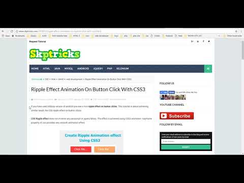 Ripple Effect Animation On Button Click With CSS3 - YouTube