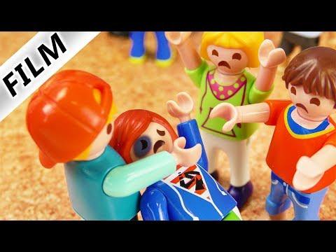 Playmobil Film deutsch   PRÜGELEI AUF SCHULHOF - Julian wird verhauen   Kinderfilm Familie Vogel