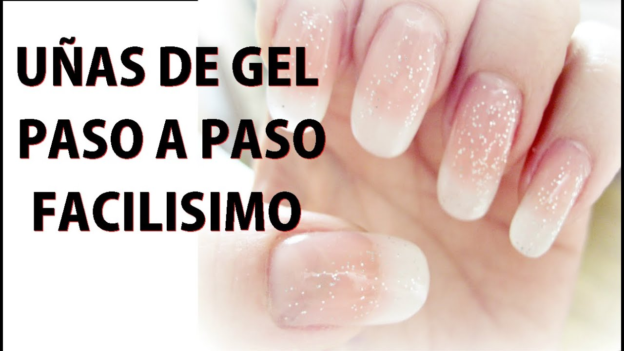 Como hacer u as de gel paso a paso sin tip youtube - Figuras de unas en gel ...