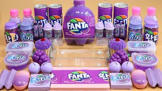 """Mixing""""Fanta"""" Eyeshadow and Makeup,parts,glitter Into Slime!Satisfying Slime Video!★ASMR★"""