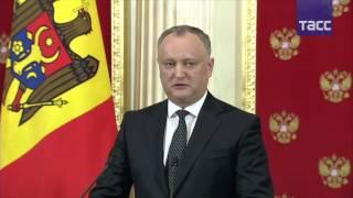 Пресс конференция по итогам переговоров Путина и Додона