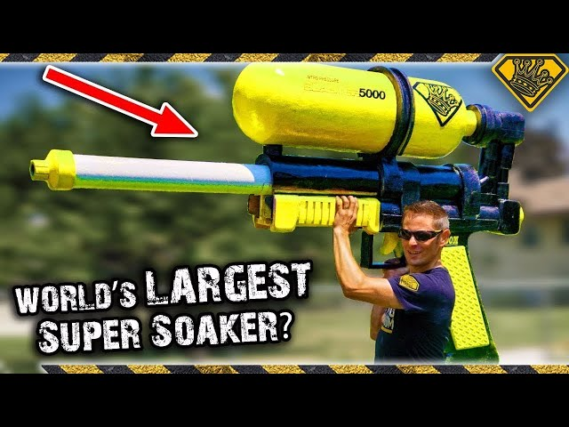 We Made Mark Rober's WORLD's LARGEST Super Soaker! 😂