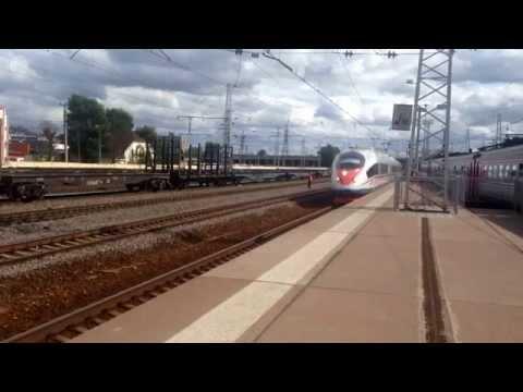 Сапсан 220 км/ч Высокоскоростной поезд внутри и снаружи