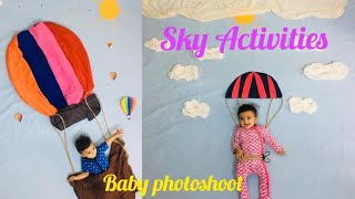 baby photoshoot at home sky activities
