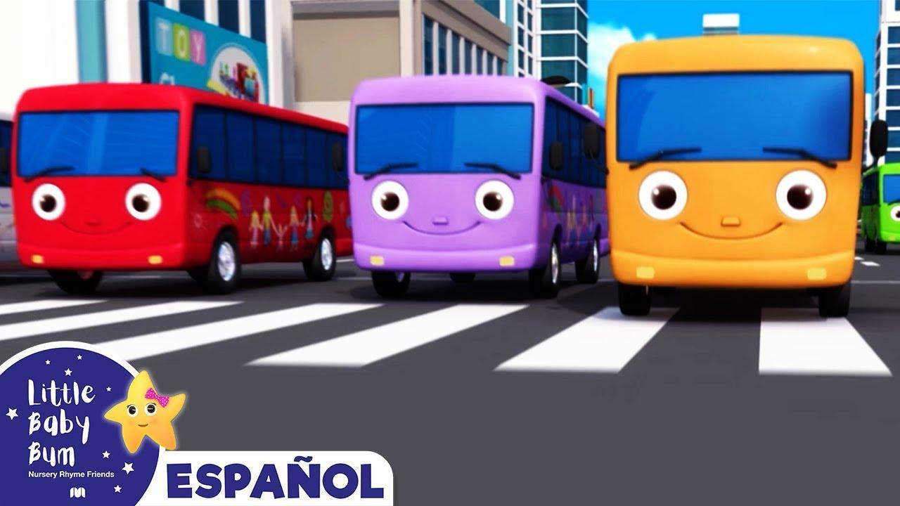 10 Autobuses de Colores | Autobuses y  Vehículos | Canciones Infantiles | Little Baby Bum Latino