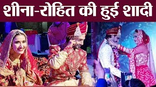 Sheena Bajaj and Rohit Purohit Stun at their wedding | Boldsky