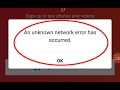 Fix An unknown network error has occurred in Instagram for Android|Tablet