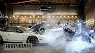 [HOONIGAN] DT 220: Timing Hert's $1400 240sx & Harley Burnouts