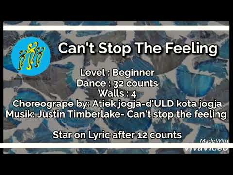 Can't Stop The Feeling - Line Dance (DEMO)