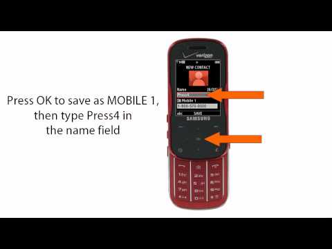 How to set up Press4 on your Samsung SCHU490 Trance