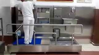 Hijyen Hattı, Sanitasyon Hattı, Turnikeli El ve Ayak Dezenfektan Hattı Video