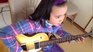 Audrey (9 years old) playing Guitar- Free Bird - Lynyrd Skynrd on R...