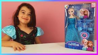 Arkadaşından Rüya'ya Yeni Yıl Hediyesi Karlar Kraliçesi Elsa Oyuncak Bebek