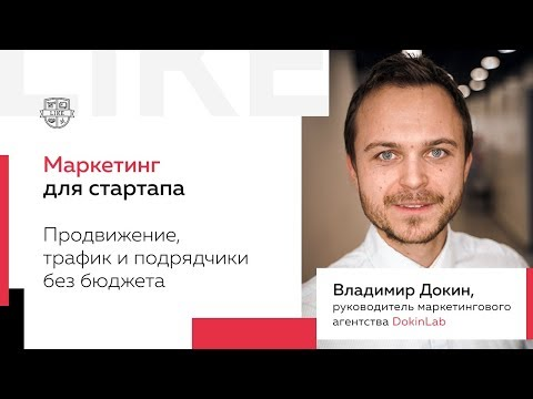 Маркетинг для стартапа: С чего начать? Владимир Докин