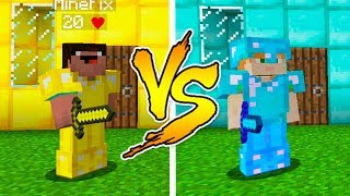 MINECRAFT - NOOB VS PRO: GOLD or DIAMOND HOUSE BATTLE in Minecraft