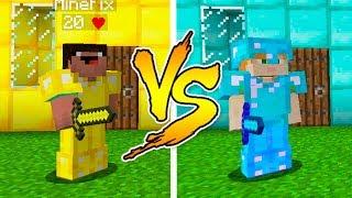 MINECRAFT - NOOB VS PRO: GOLD or DIAMOND HOUSE BATTLE in Minecraft thumbnail