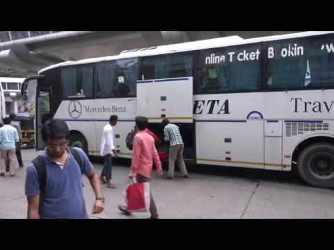 One Volvo Bus & One Multi Axle Mercedes-Benz Bus Showing Off At A Busy Street in Mumbai !!!