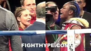 (DAAAAMN!) CLARESSA SHIELDS & CHRISTINA HAMMER HEATED ALTERCATION; TRADE WORDS & GO AT IT IN RING