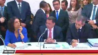 Marconi Perillo presta esclarecimentos na CEI da Saúde na Câmara de Vereadores de Goiânia